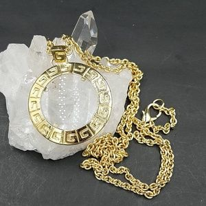 Vintage Givenchy Logo Magnifier Pendant Necklace